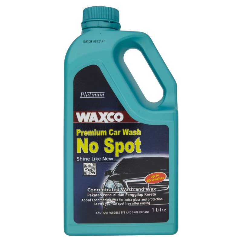Waxco Premium Car Wash Concentrated Wash and Wax No Spot (1L)