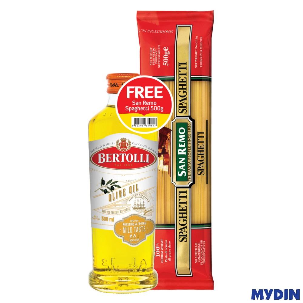 Bertolli Classico Olive Oil 500ml FREE San Remo Spaghetti