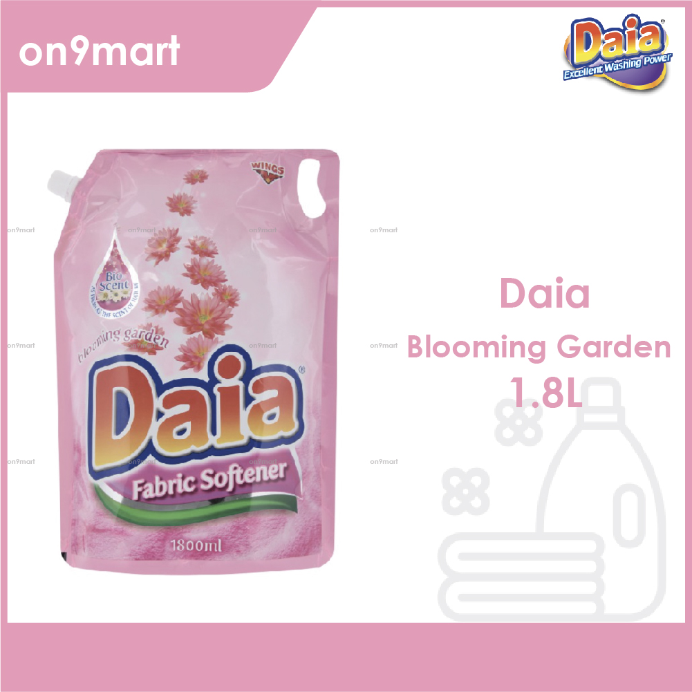 Daia Fabric Softener Blooming Garden Pouch 1.8L Pink