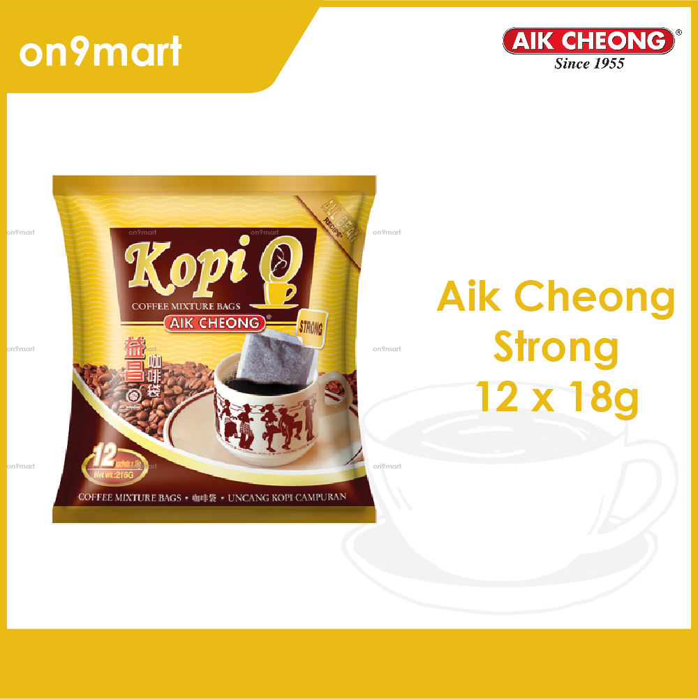 Aik Cheong Coffee Kopi O Bag Strong 216g - 12's x 18g