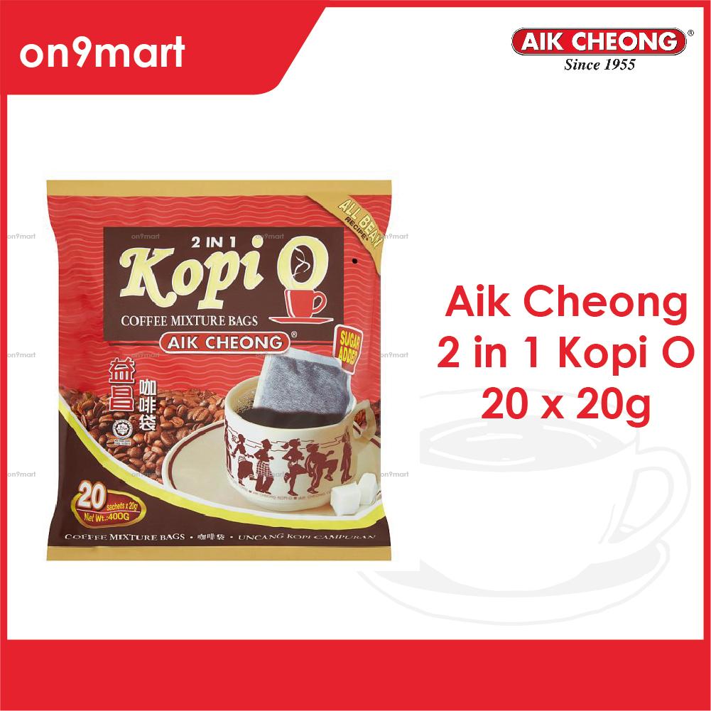 Aik Cheong Coffee Kopi O Bag 2 in 1 400g - 20's x 20g