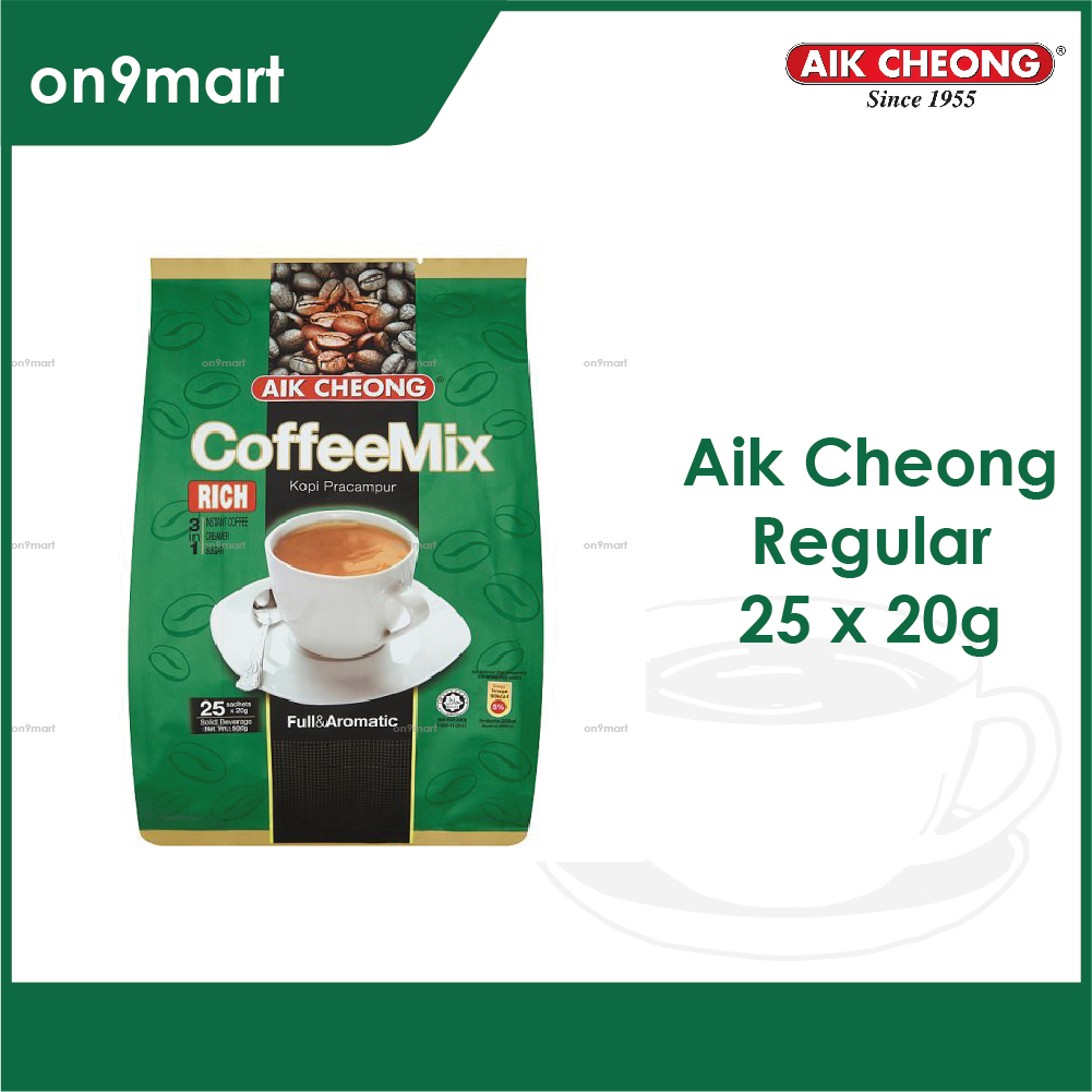 Aik Cheong Coffee Mix 3 in 1 Rich 500g - 25's x 20g