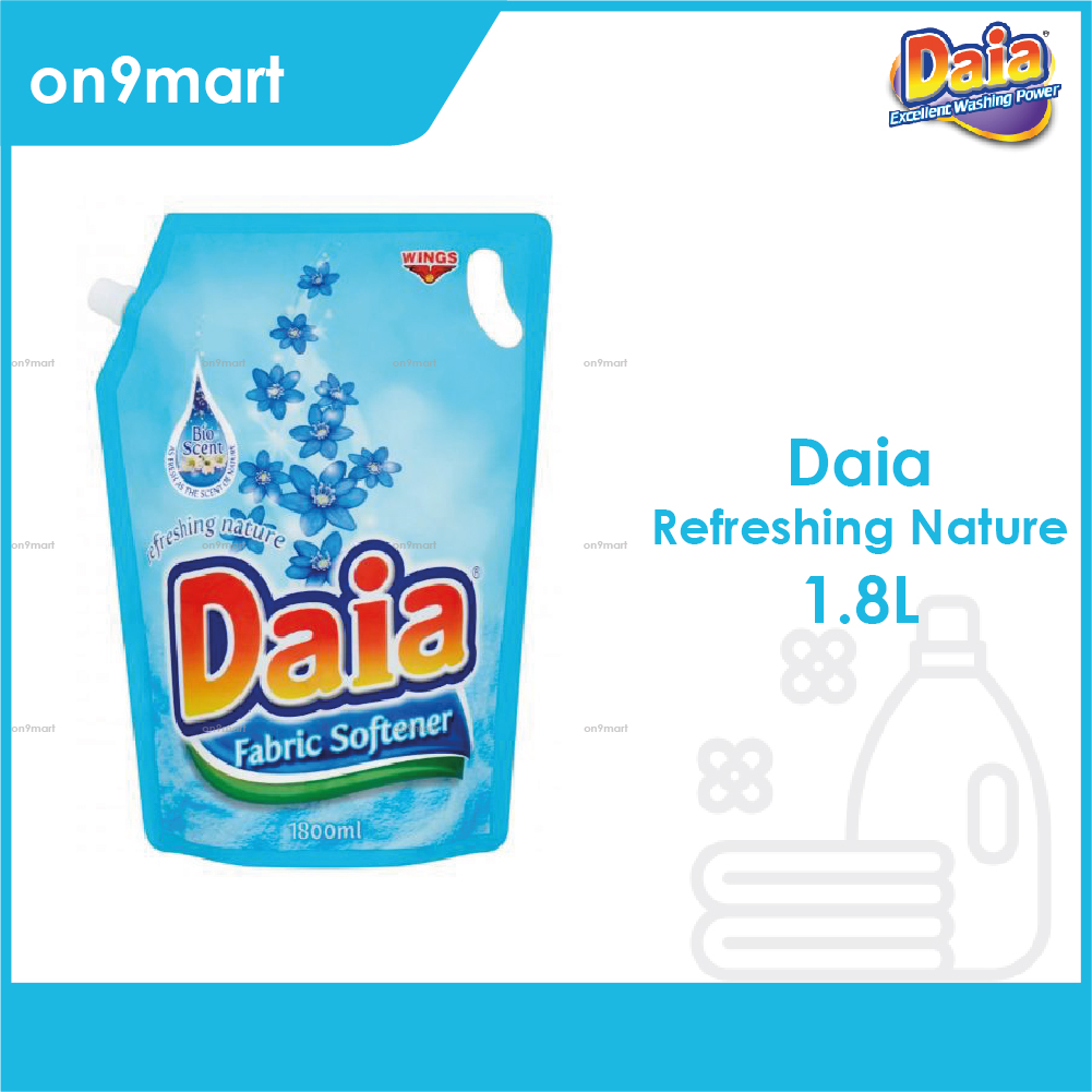 Daia Fabric Softener Refreshing Nature Pouch 1.8L Blue