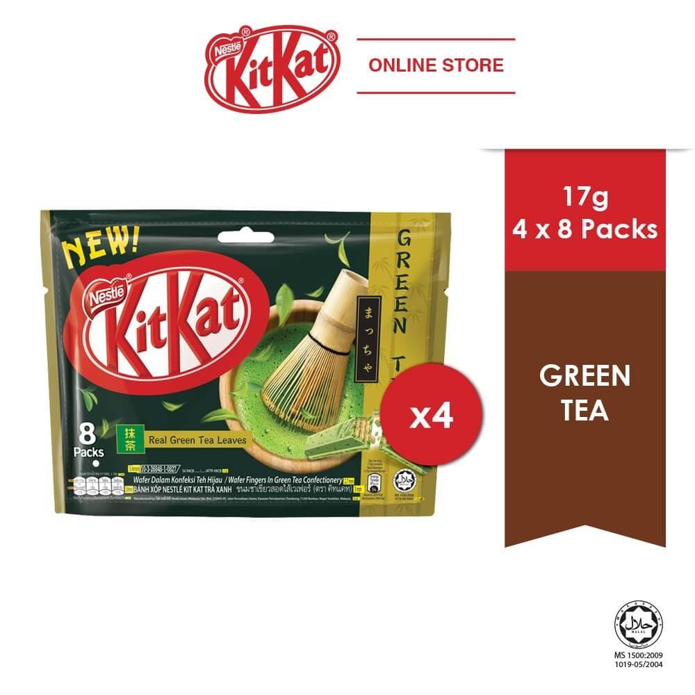 Nestle KITKAT 2-Finger Green Tea Pack (8 x 17g)[Bundle of 1/2/4/6] ExpDate:OCT21