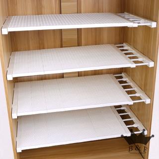 Wardrobe Storage layered diaphragm cabinet free nailing rack Bathroom separator Laminate dormitory telescopic finishing