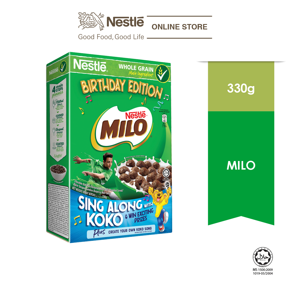 Nestle MILO Cereal 330g KOKO Birthday Contest