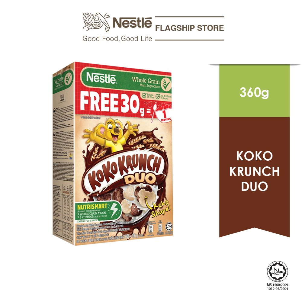 NESTLE Koko Krunch DUO Cereal 330g bonus pack 30g