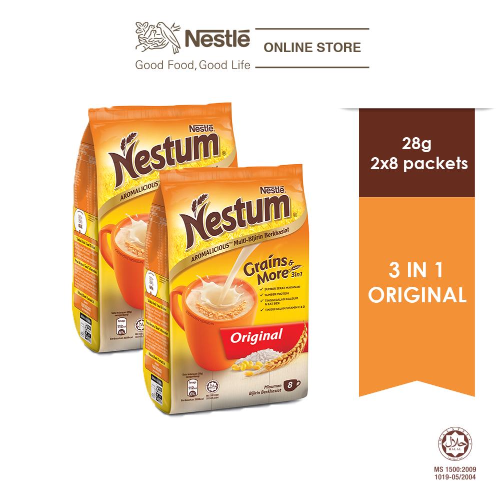 NESTLÉ NESTUM Grains & More 3in1 Original 8 Packets 28g, x2 packs