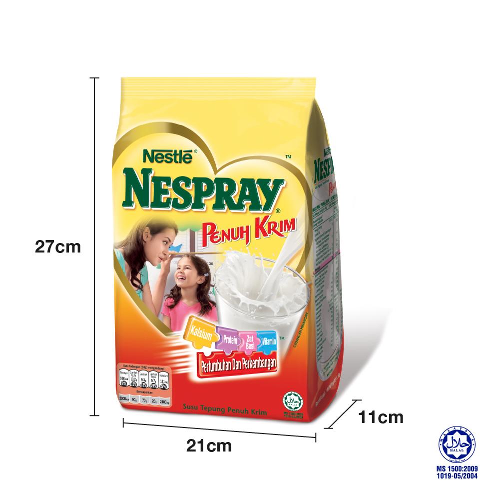 NESPRAY CERGAS Milk Powder Soft Pack 1.4kg, Bundle of 3