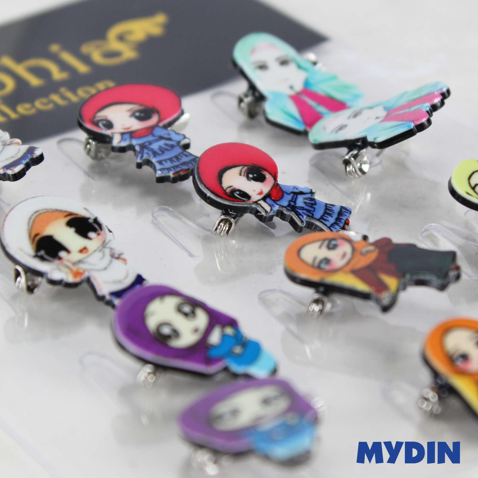 Assorted Tini Mini Muslimah 0820ABCPD6D-9-05 (12pcs) #DesignC