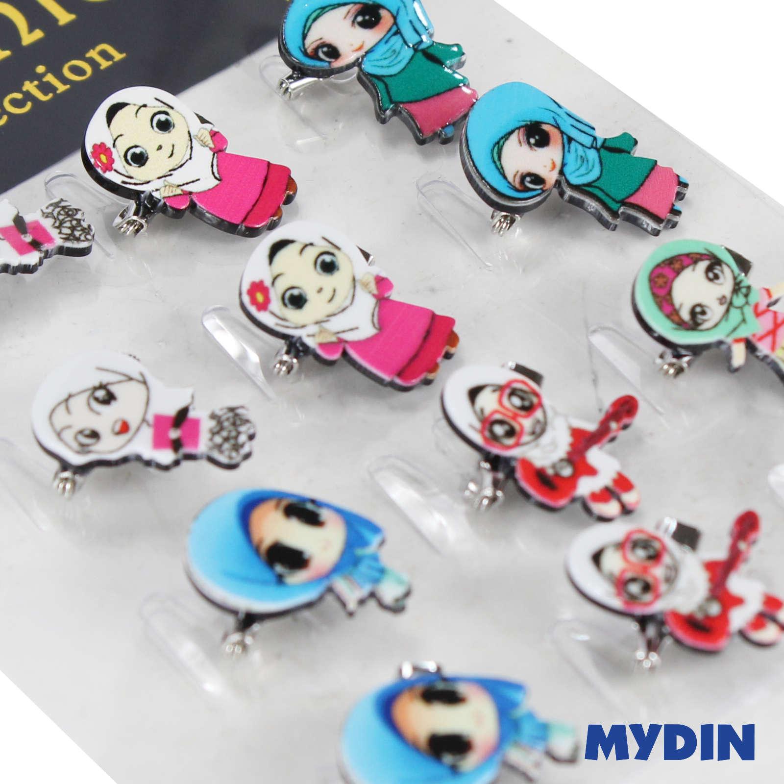 Assorted Tini Mini Muslimah 0820ABCPD6D-9-04 (12pcs) #DesignD
