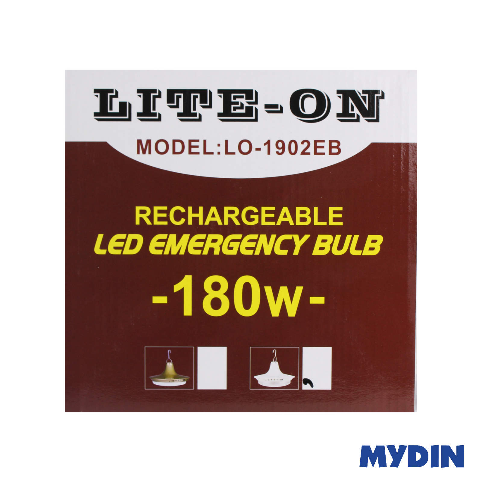 Lite-On LED Rechargeable Emergency Bulb 180W LO-1902EB