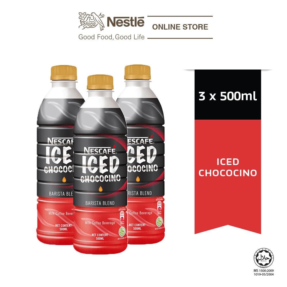 NESCAFE Iced Chococino 500ml x3 bottles