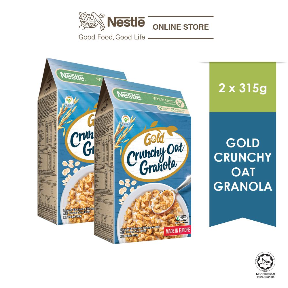 Nestle Gold Crunchy Oat Granola 315g x 2 Boxes