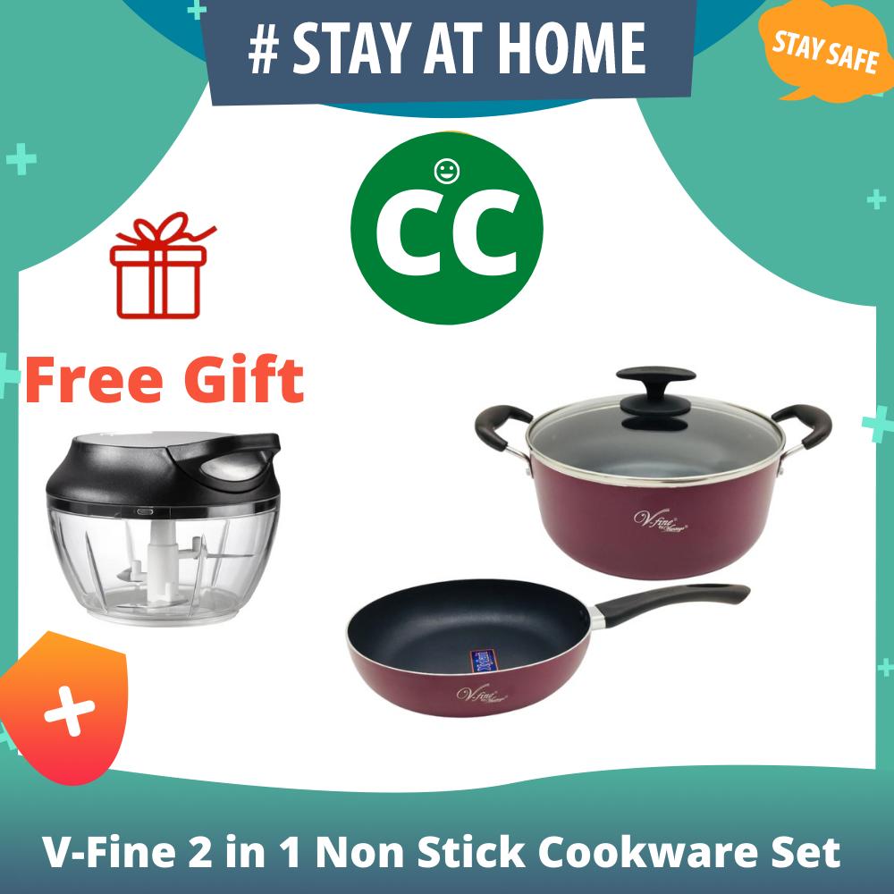 V-Fine 2 in 1 Non Stick Cookware Set By Vantage