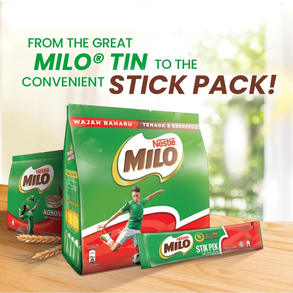NESTLÉ MILO STICK PACK ACTIV-GO 18 Sticks 30g