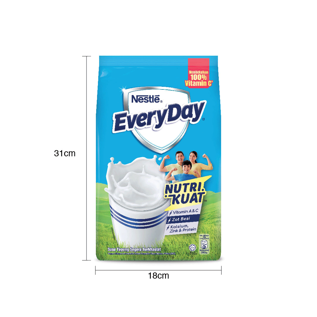 NESTLE EVERYDAY Milk Powder Soft Pack 1.6Kg, Bundle of 3