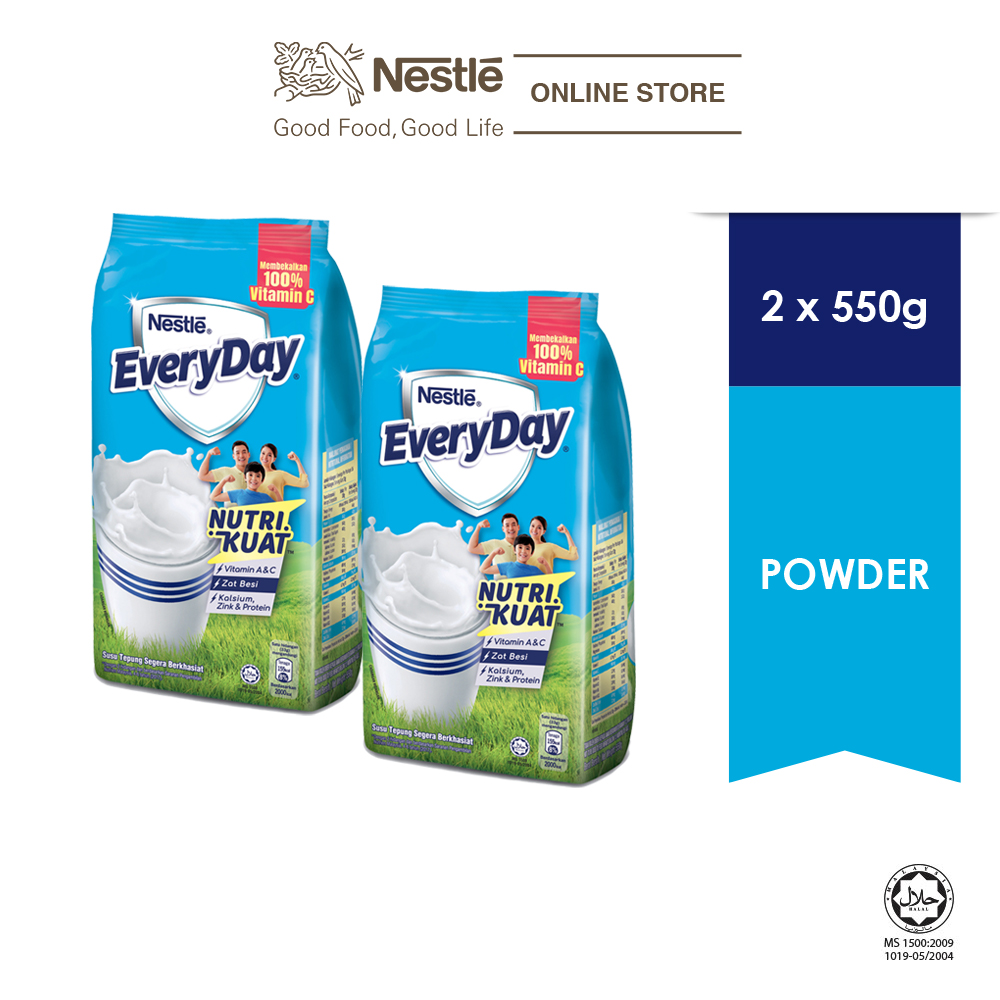 NESTLE EVERYDAY Milk Powder Softpack (550g), Bundle of 2