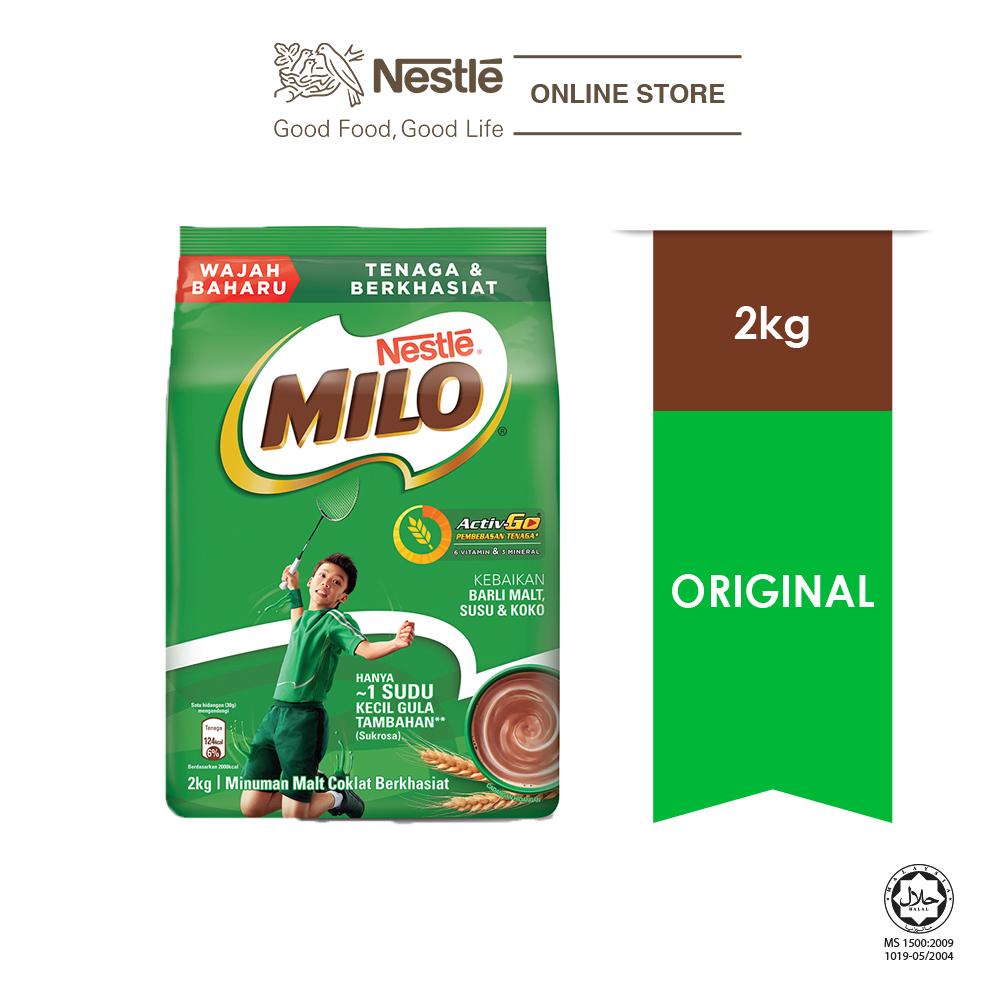 NESTLÉ MILO ACTIV-GO CHOCOLATE MALT POWDER Soft Pack 2kg