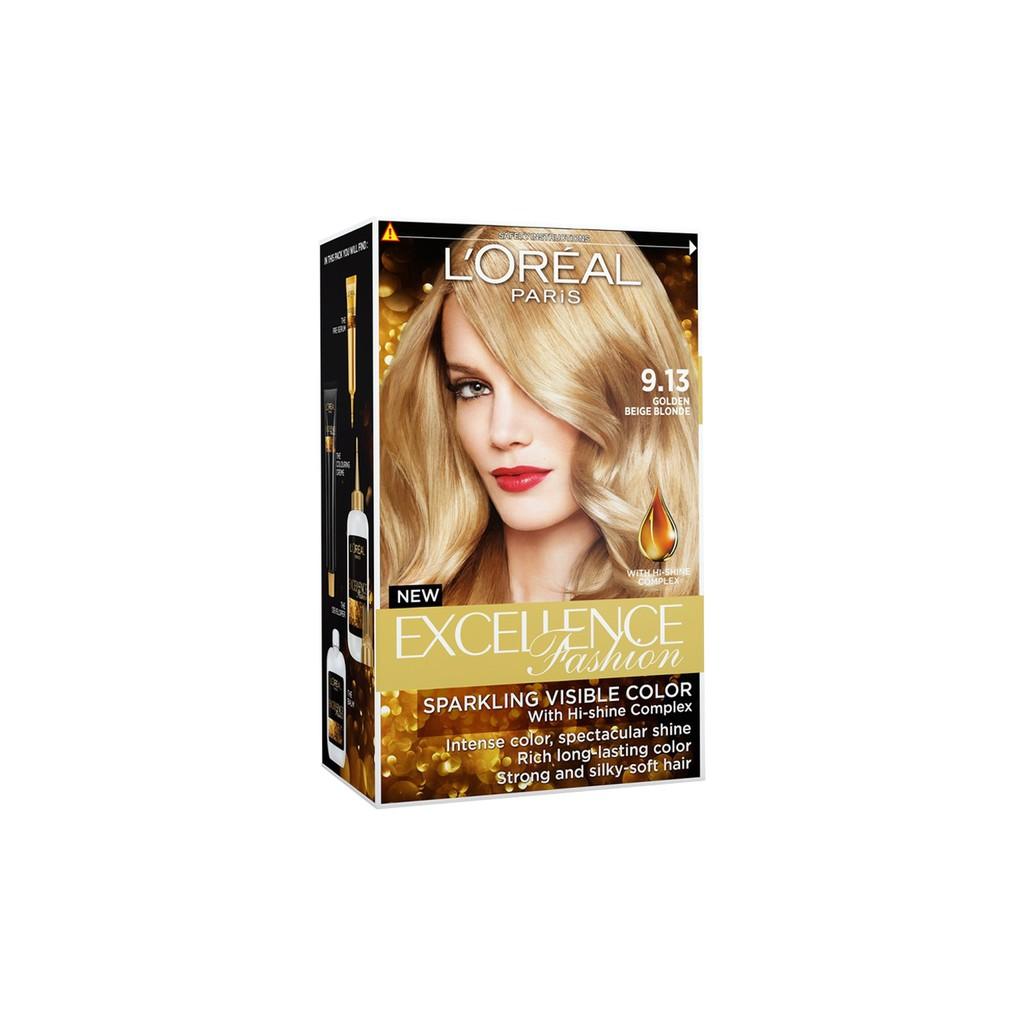 L'Oreal Paris Excellence Fashion Hair Color - #9.13 Golden Beige Blonde, Water Permeable
