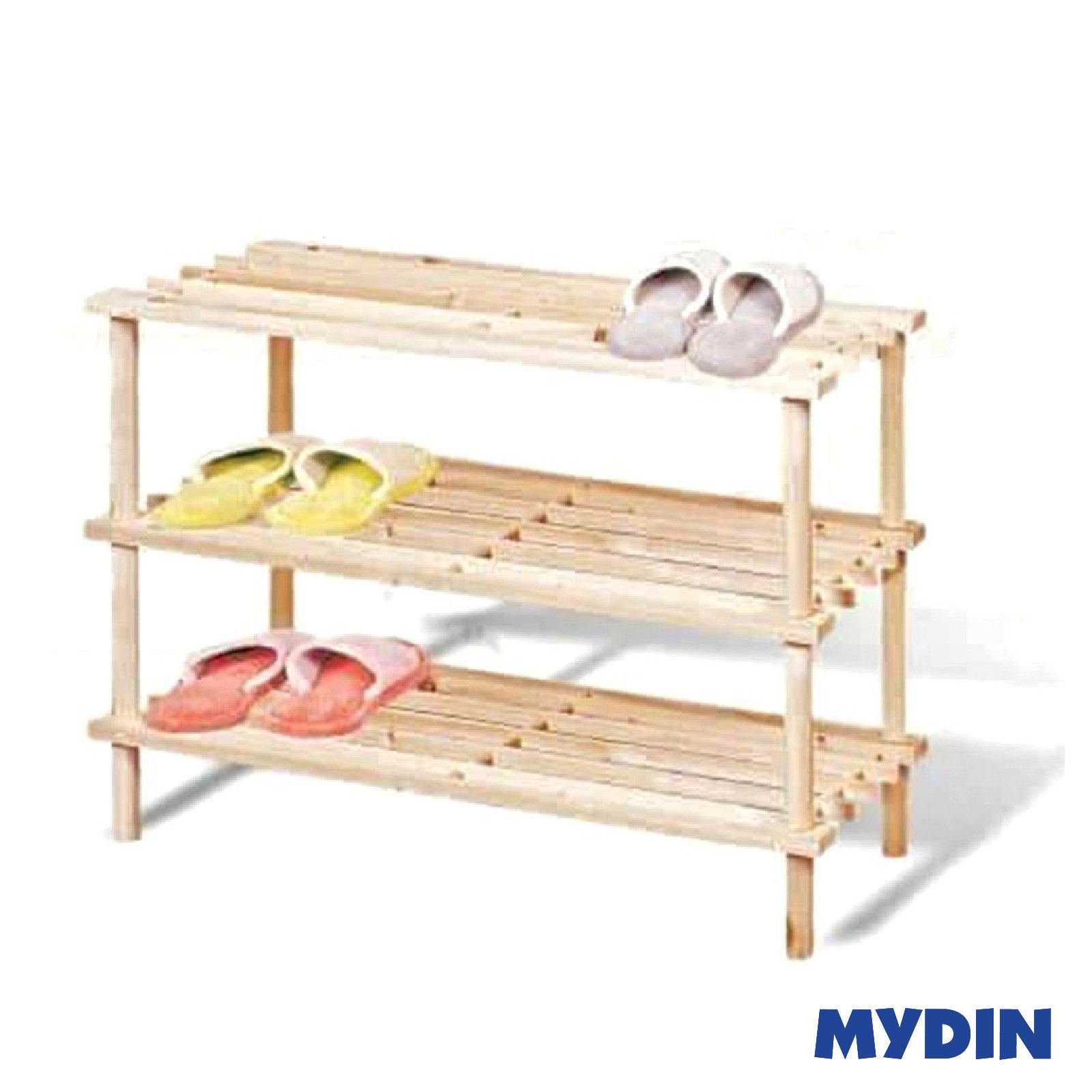 Comel Wooden Shoe Rack 3 Tier (63 x 26 x 48cm) MH-3TIER