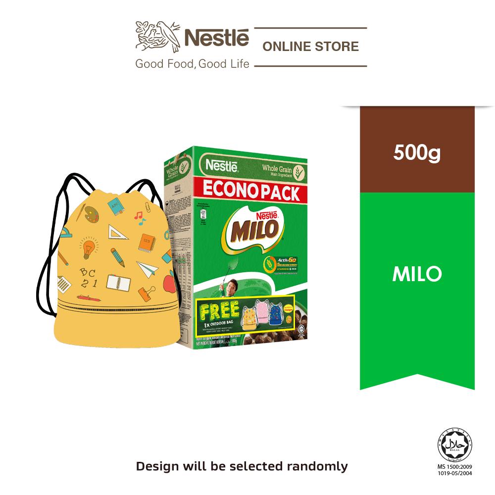 NESTLE MILO Cereal Econopack 500g Free Outdoor Bag