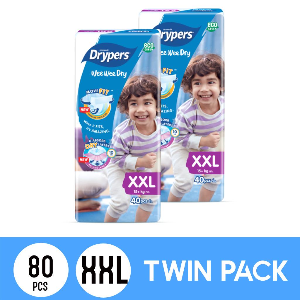 Drypers Wee Wee Dry Twinpack XXL40 (80pcs)