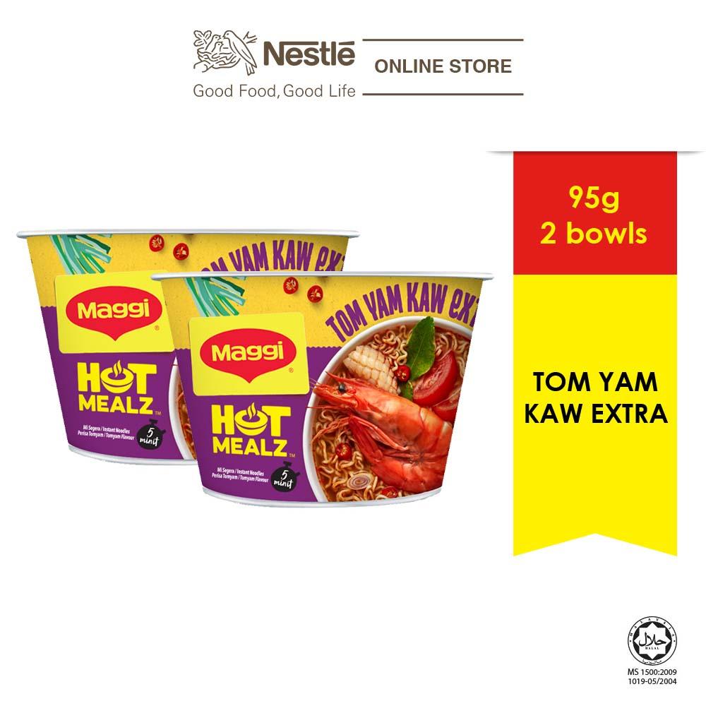 MAGGI Hot Mealz Tom Yam Kaw Extra 101g x2 bowls
