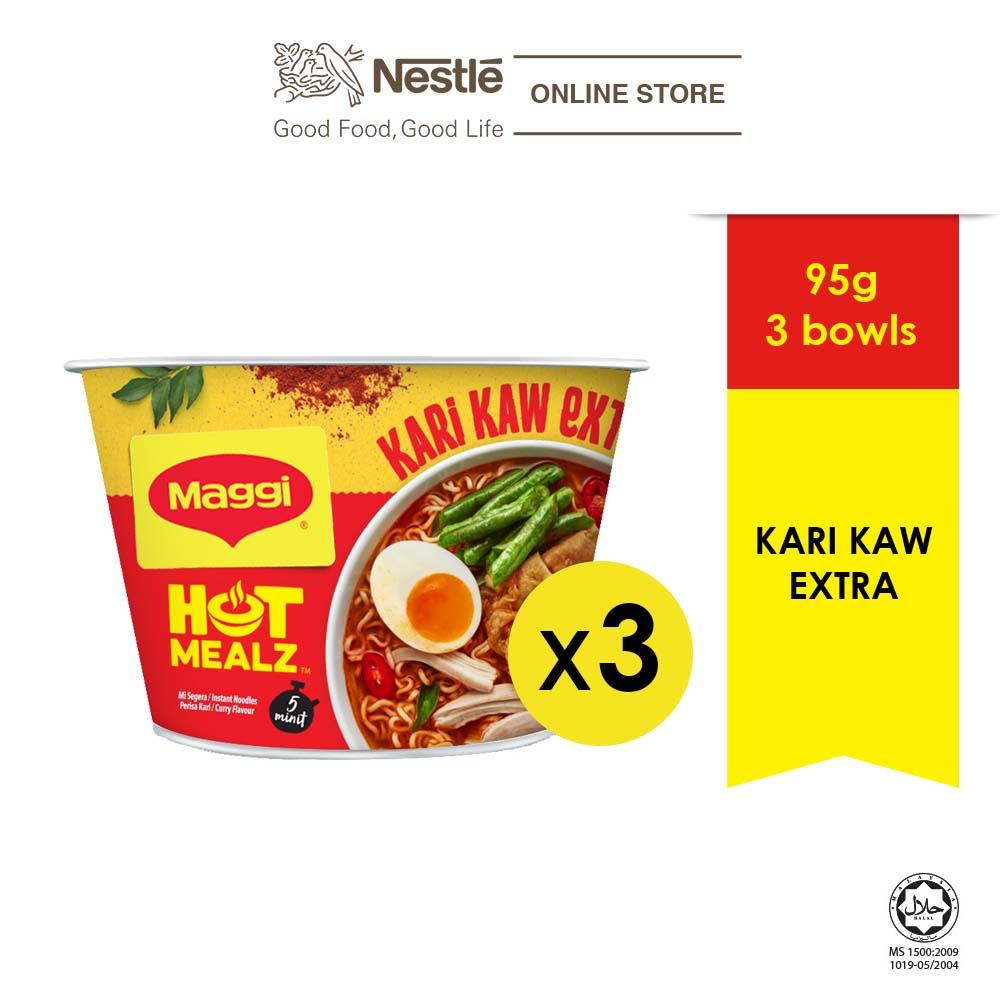 MAGGI Hot Mealz Kari Kaw Extra 95g x2 bowls