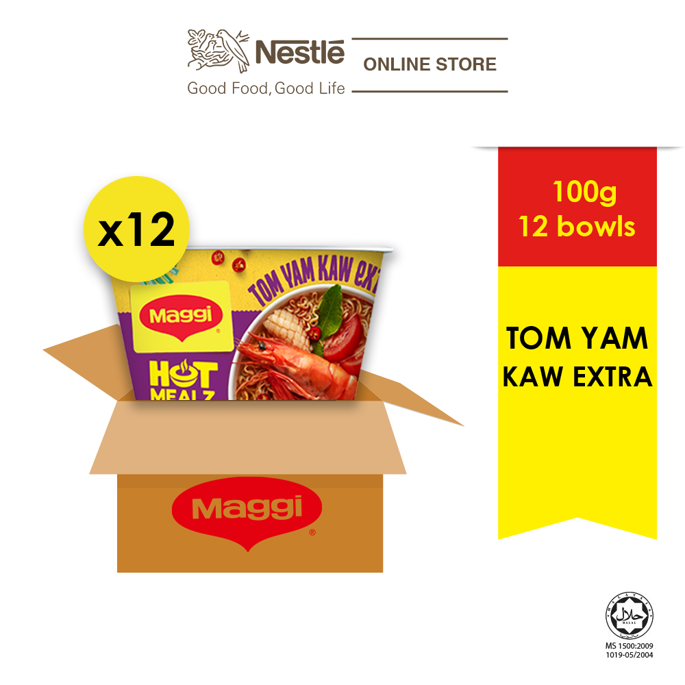 MAGGI Hot Mealz Tom Yam Kaw Extra 101g x 12 Bowls (1 Carton)
