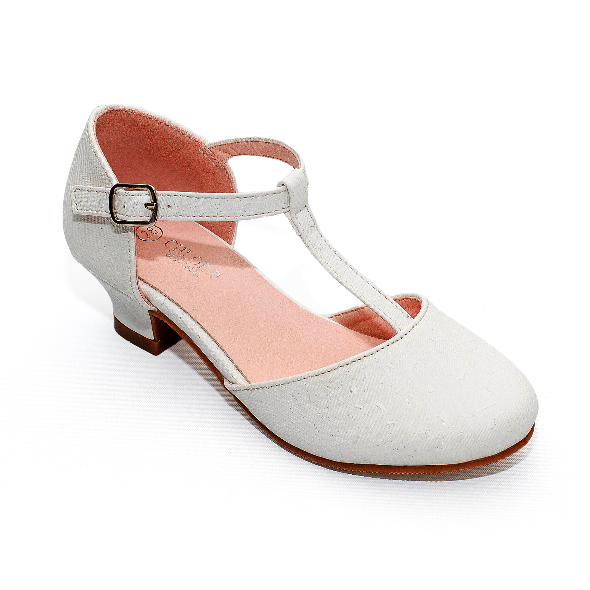 Girls Shoe 3 5 Coral Silver or White Silver SIlver Comfy TBar Buckle Pad Sandals