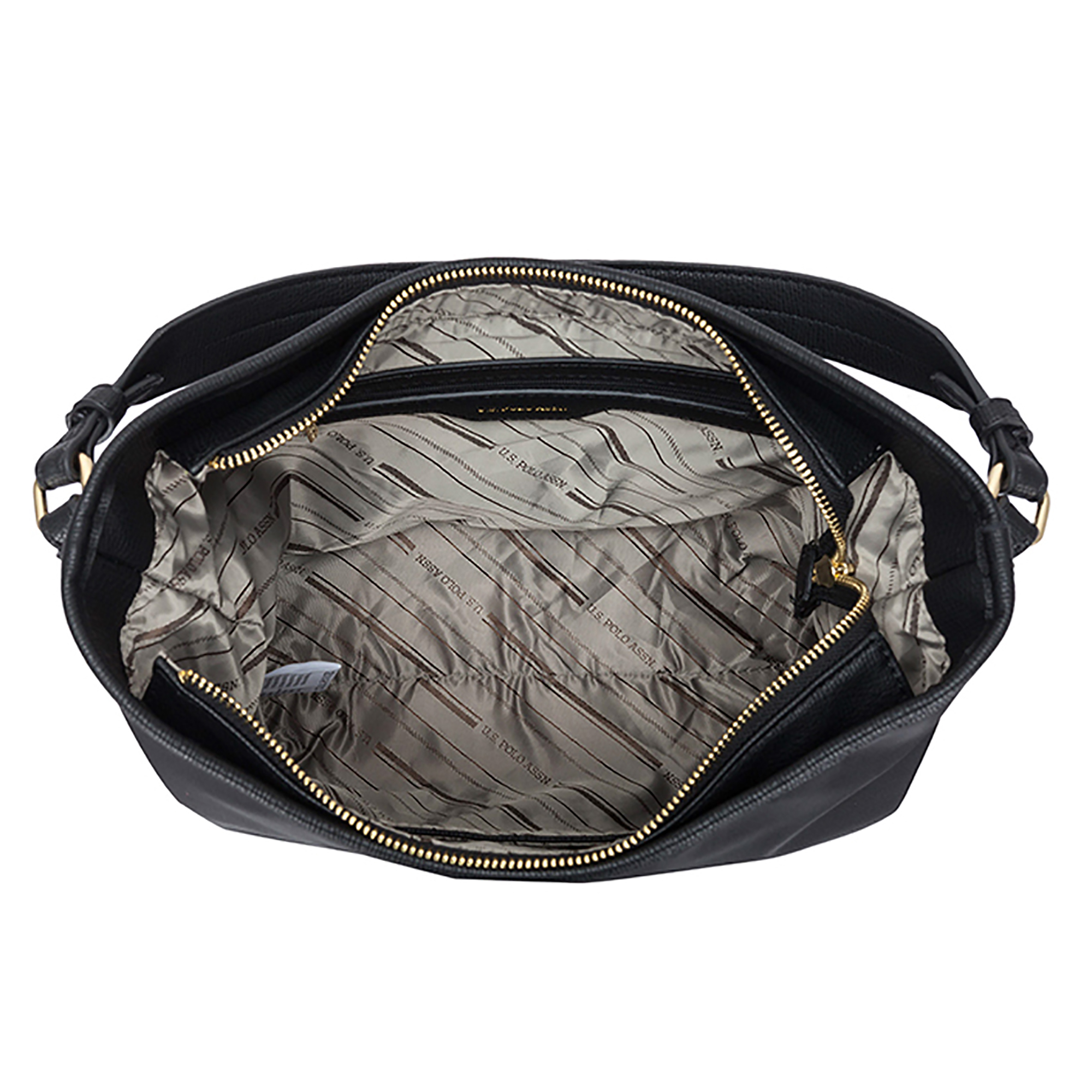 061f0ff287 NEW US Polo Assn. Houston Hobo Zip Top Handbag Casual Fashion Nylon ...