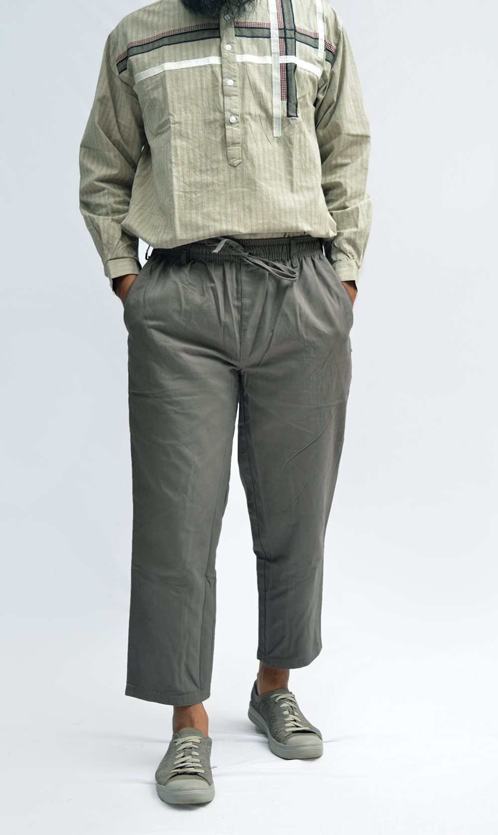 CS-007 Celana Sirwal Abu-abu Muda