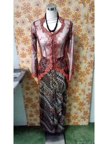 TP-368001 - Kebaya wanita dewasa, baju dari kain lace, Kain jenis kain batik