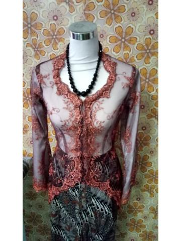 Photo 2 of Kebaya wanita dewasa TP-368001 baju dari kain lace, Kain jenis kain batik
