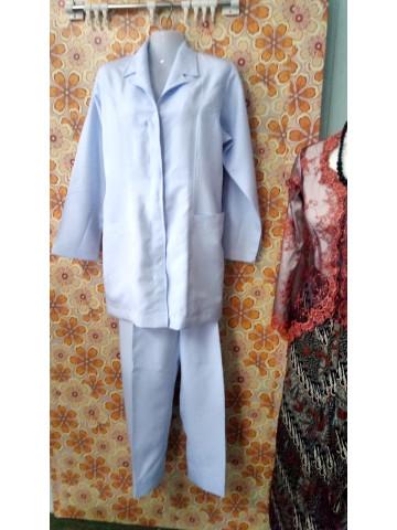 Photo 1 of Uniform jururawat TP-368004 Uniform jururawat  Baju pada bahagian kolar dijahit seperti blazer
