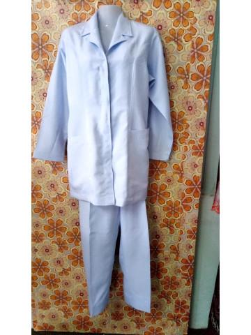 Photo 2 of Uniform jururawat TP-368004 Uniform jururawat  Baju pada bahagian kolar dijahit seperti blazer