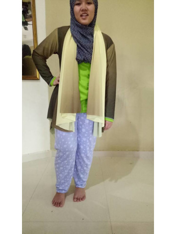 Photo 1 of cardigan tudung 2 in 1 TP-355001