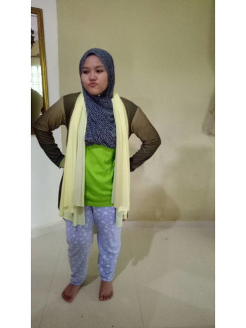 Photo 2 of cardigan tudung 2 in 1 TP-355001