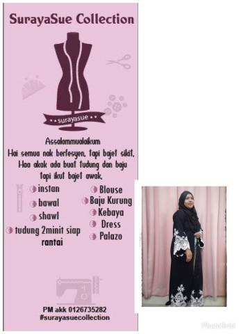 Photo 1 of Surayasue collection TP-378001 baju kurung moden lace
