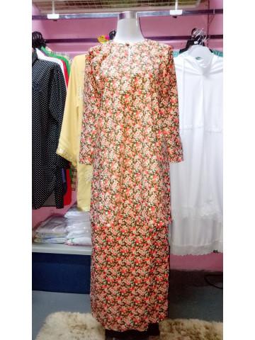 TP-383001 - Aliyah umairah collection, Baju kurung pahang material cotton silk  Kain lipat batik Berukuran size M
