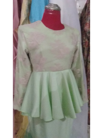 Photo 2 of Peplum top lace PL-001 Top peplum lace. Kain duyung