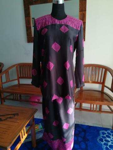 TP-411001 - Kurung moden, Baju kurung moden + kain kipas belakang