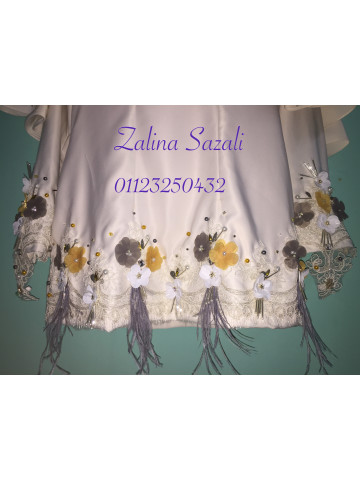 Photo 2 of Moden KM1 Kurung Moden With Cape- White- Nikah