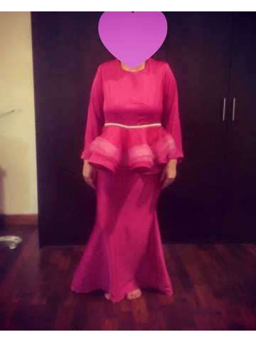 Photo 2 of Kurung peplum KP1 Baju kurung peplum plain