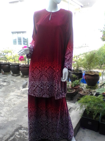 Photo 2 of Baju kurung TP-392001 Baju kurung pesak dan kain johor