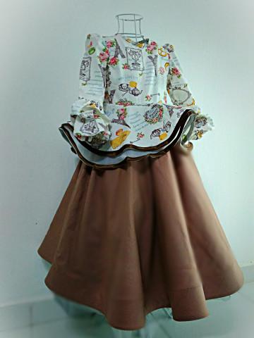 Photo 2 of Dress muslimah kanak-kanak DM01 Dress peplum 720,  2 lapis,  hujung tangan cubit-cubit,  tali belakang,  dan horse hair