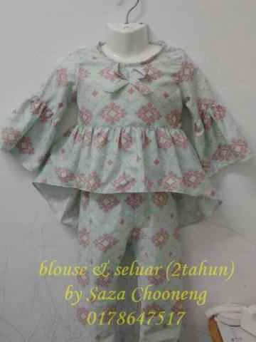 Photo 2 of blouse budak TP-53006 pelbagai jenis fesyen