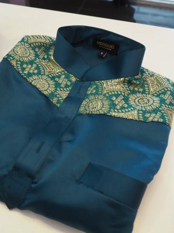 Photo 1 of Baju Melayu Slim Fit (Tunang/nikah) TP-388044 untuk menempah Jahit individu @ Pukal  sila berhubung di talian 0193780293