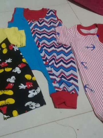 Photo 1 of Baby romper TP-488001 Customade baby romper ..fabric can be choose..